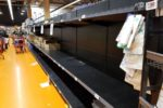 Americans empty nation's grocery shelves